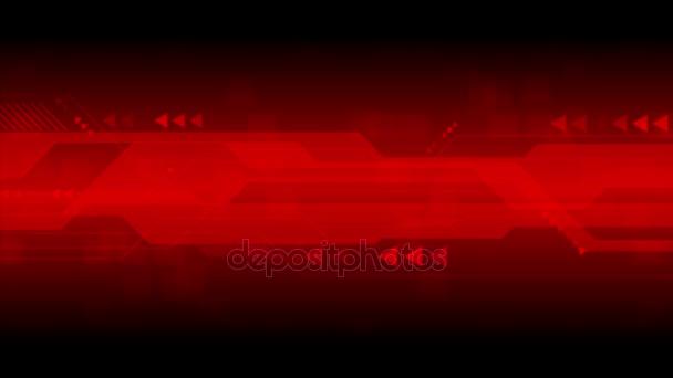 Tmavě červené sci-fi technologie abstraktní motion design