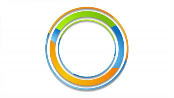 Colorful abstract corporate circles logo video animation