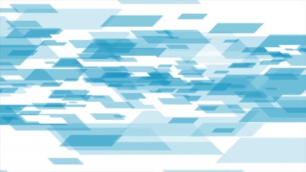 Modrá bílá tech geometrická abstraktní video animace