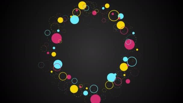 Barevné retro kruhy abstraktní bokovky videoklip