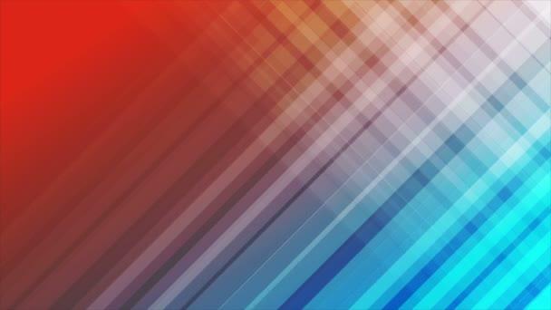 Diagonální pruhy modré a červené abstraktní video animace