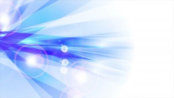 Modrý lesklý abstraktní pruhy animované pozadí