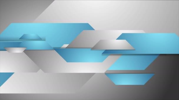 Modré a šedé tech firemní video animace