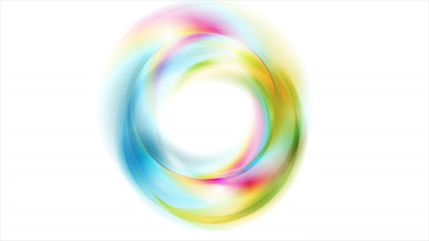 Colorful glowing shiny abstract circles video animation