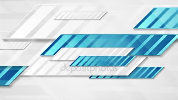 Modrá šedá tech geometrická abstraktní video animace