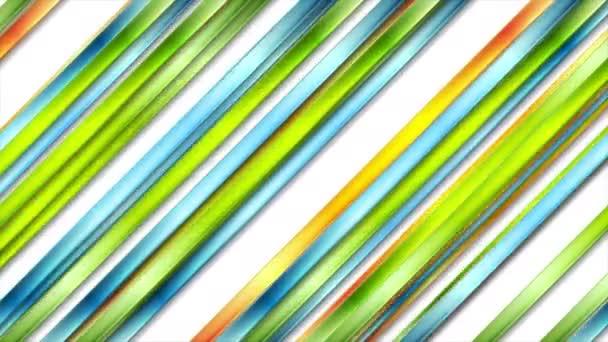 Barevné abstraktní lesklé pruhy video animace