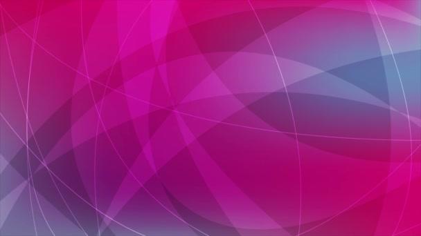 Modré a růžové abstraktní vlny video animace