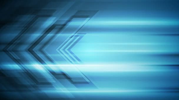 Blue tech arrows abstract video animation