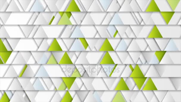 Triangles geometric tech abstract video animation