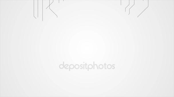 Absztrakt szürke tech áramköri vonalak motion design