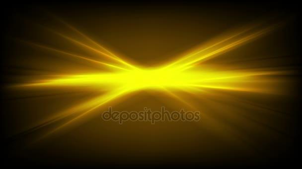 Abstraktní jasně zářící žluté pruhy video animace
