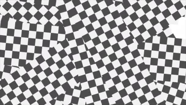 Černá a bílá zdobená geometrická abstraktní video animace