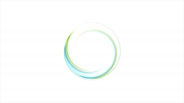Modré a zelené abstraktní kruh logo video animace
