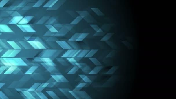 Dark blue tech geometric video animation