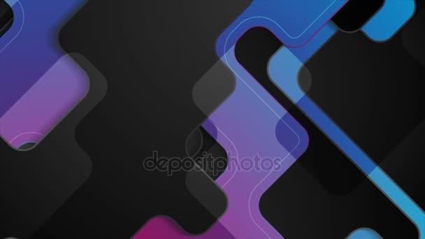 Tmavě modré fialové abstraktní tech společností motion design
