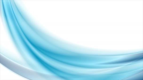 Světlé modré abstraktní tekoucí dynamické vlny motion design