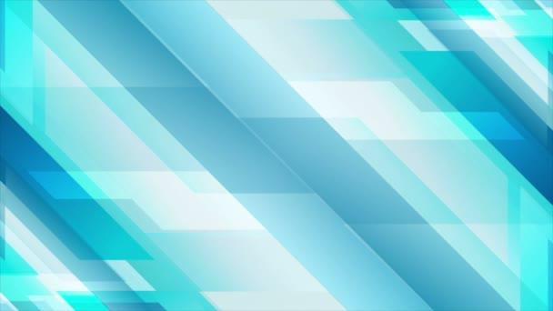 Light blue geometric technology video animation