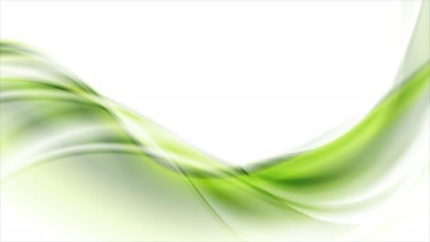 Zöld absztrakt áramló dinamikus hullámok motion design