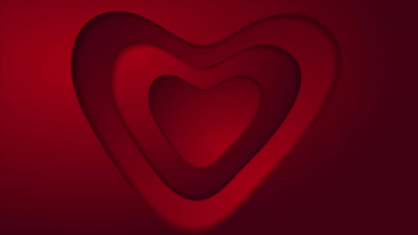 Abstract red heart St Valentines Day video animation