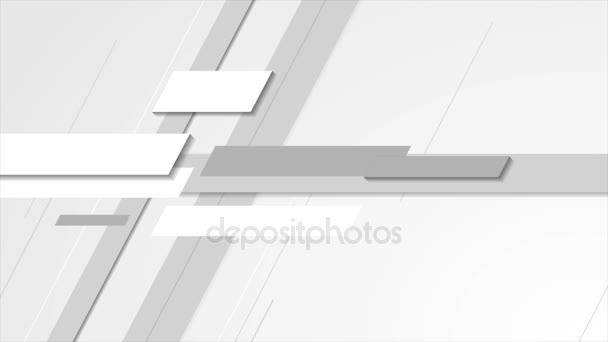Světle šedá technologie abstraktní video animace