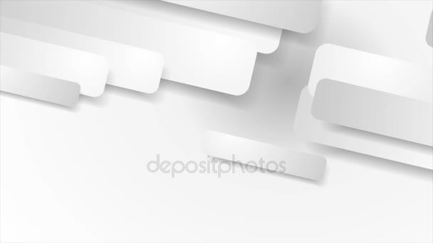 Bílá a šedém papíru geometrické video animace