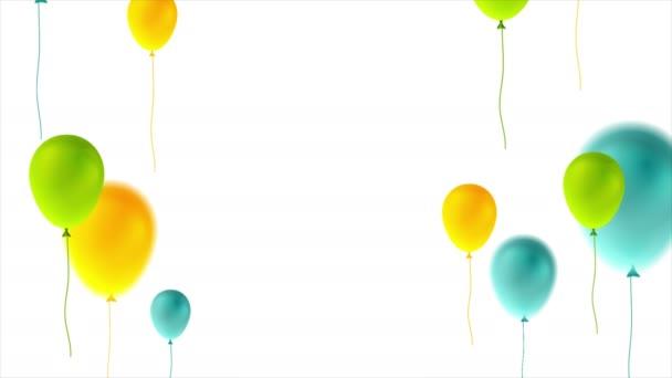 Barevné balónky k narozeninám abstraktní video animace