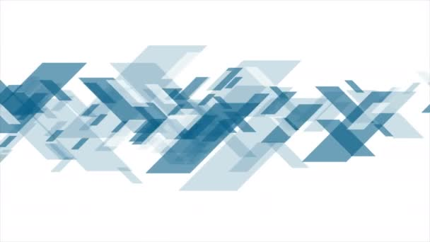 Konzept tech abstrakte blaue Videoanimation