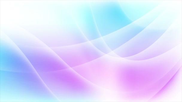 abstrakte blau lila fließende Wellen Videoanimation