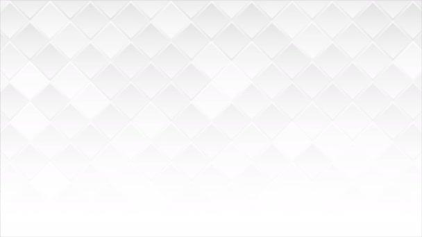 Fehér geometriai négyzetek elvont technológia mozgás háttér