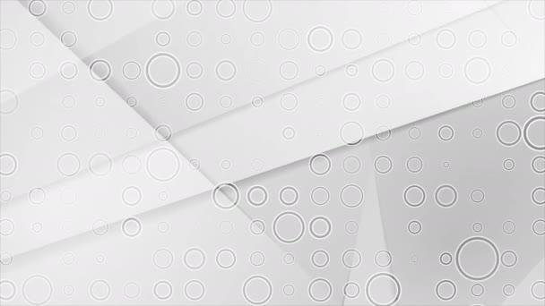 graue polygonale Videoanimation mit Kreisen Textur