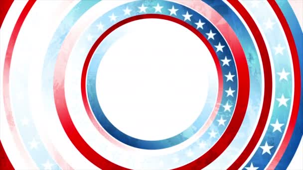 Grunge concept USA flag abstract motion animated background