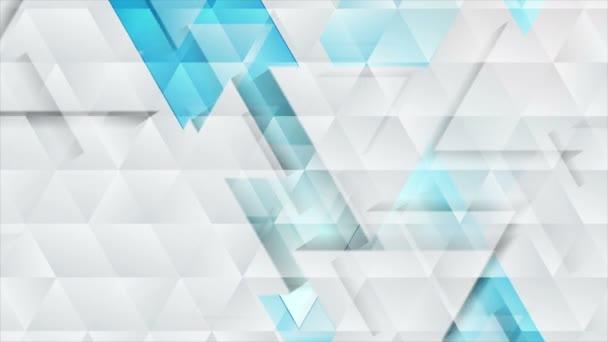 Modrá šedá technologie geometrické nízké poly abstraktní video animace
