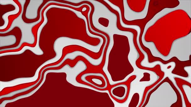 Red and grey topographic contour map abstract tech motion background