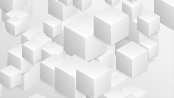 abstrakte geometrische 3D-Bewegungshintergründe mit Papierwürfeln