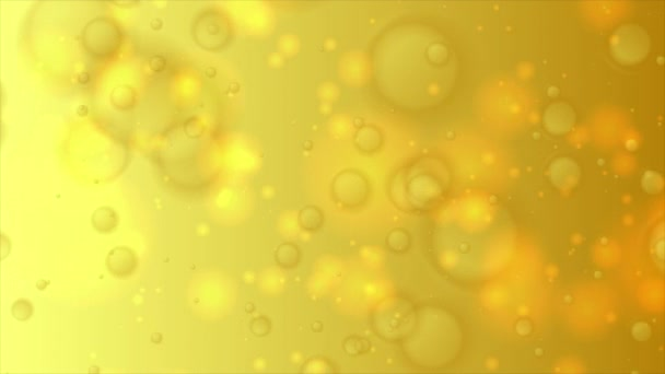 Sárga arany bokeh fények részecskék elvont mozgás háttér