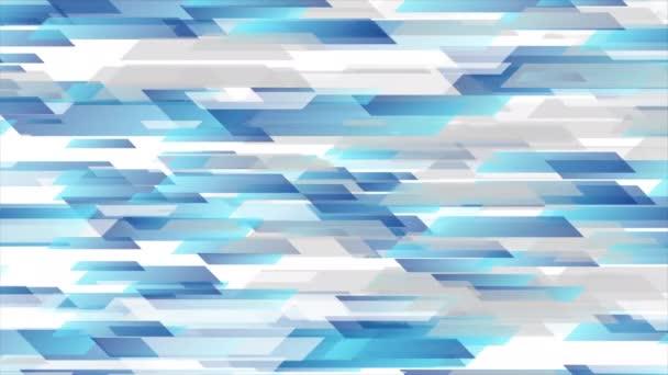 Modrá šedá technologie geometrický abstraktní pohyb animované pozadí