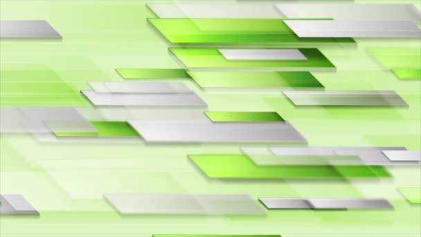Bright shiny green technology geometric video animation