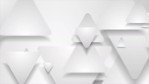 Hi-tech geometriai absztrakt mozgás háttér papír háromszögek
