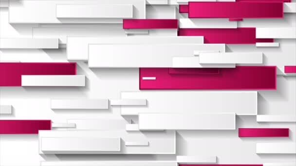 Abstraktní šedé a růžové tech geometrické obdélníky pohybu pozadí