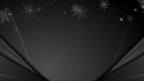 Schwarze abstrakte Schneeflocken Weihnachten Corporate Bewegungshintergrund