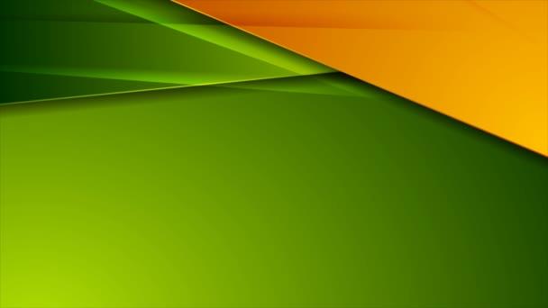 Zelená a oranžová lesklá firemní abstraktní video animace