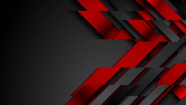 Contrast red and black geometrical video animation