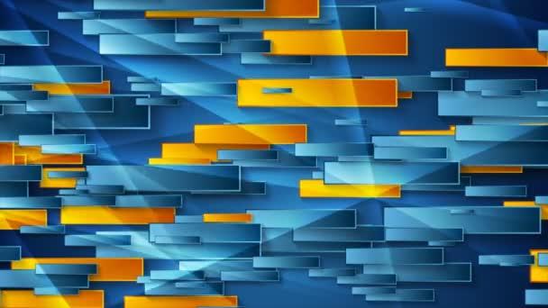 Blaue und orangefarbene geometrische abstrakte Videoanimation