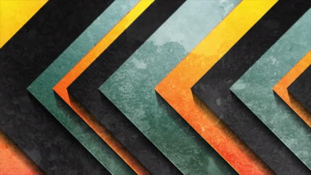 Absztrakt geometriai nyilak grunge textúra videó animáció