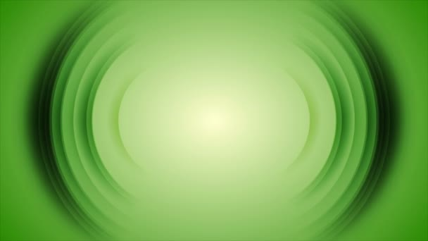 Green shiny technology motion background with abstract round shapes