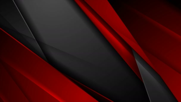 High contrast red black abstract tech corporate video animation