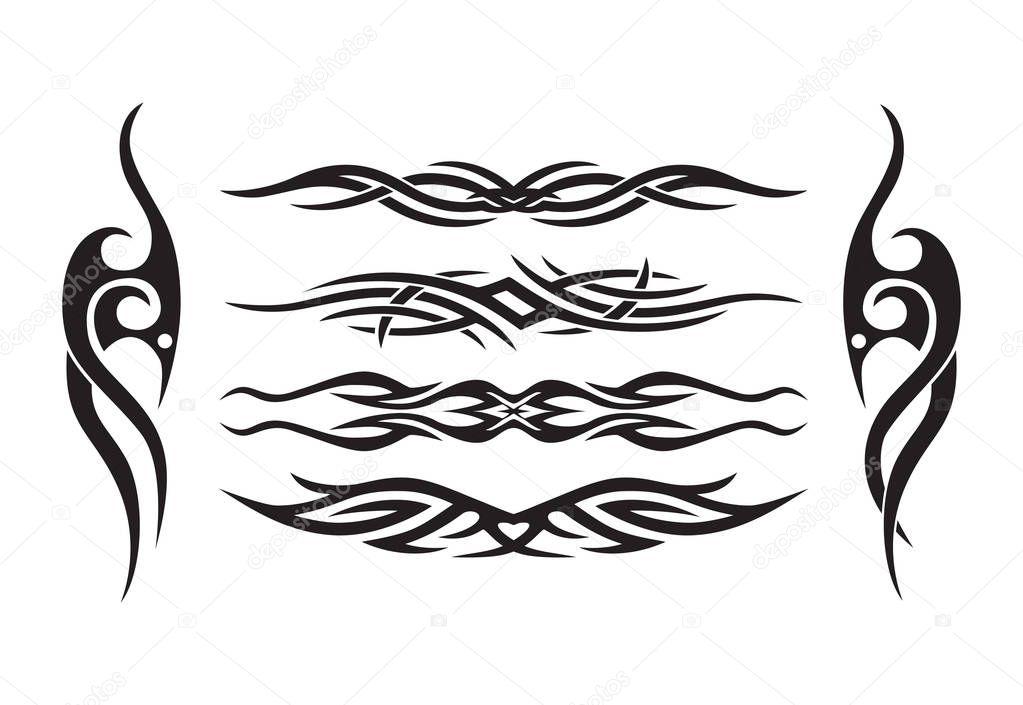 Horizontal symmetrical tattoo