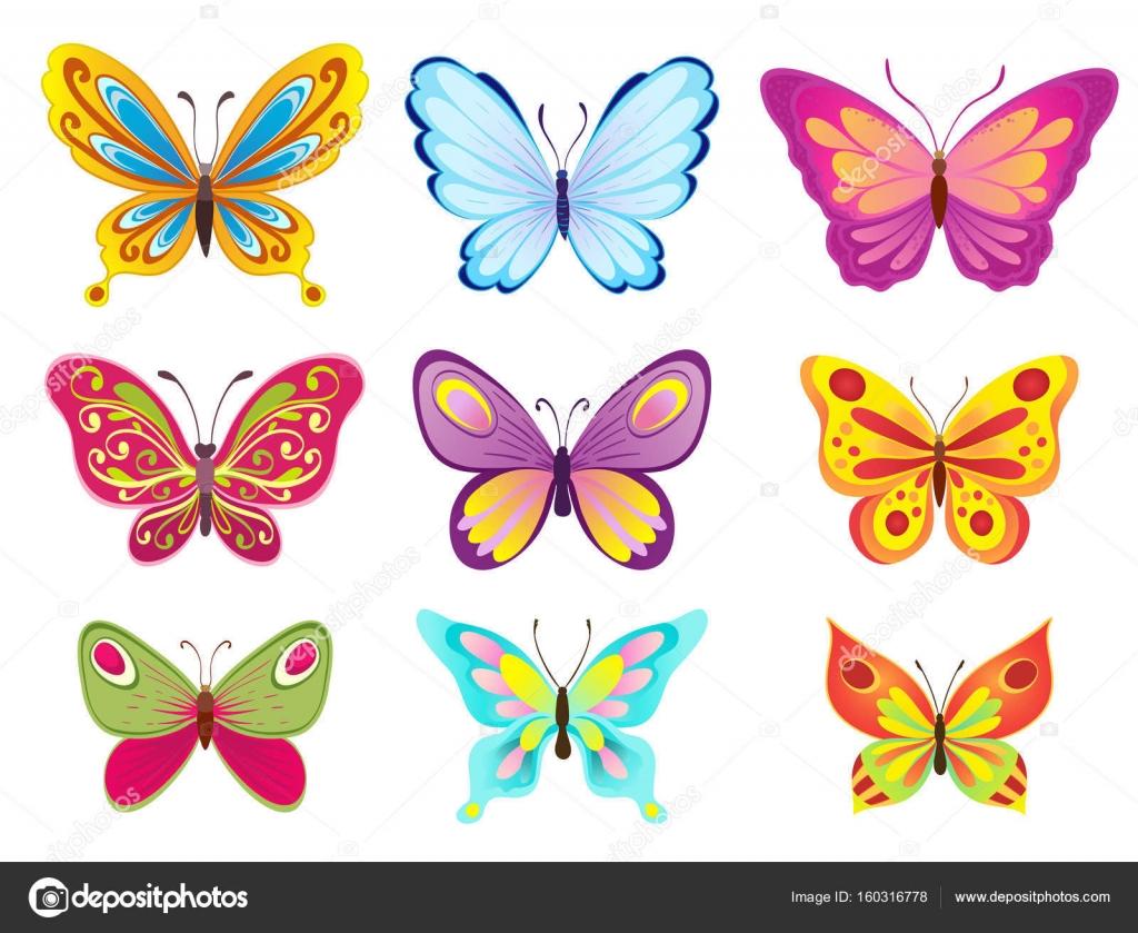 Imagenes De Mariposas De Colores: Dibujos: Mariposas De Colores