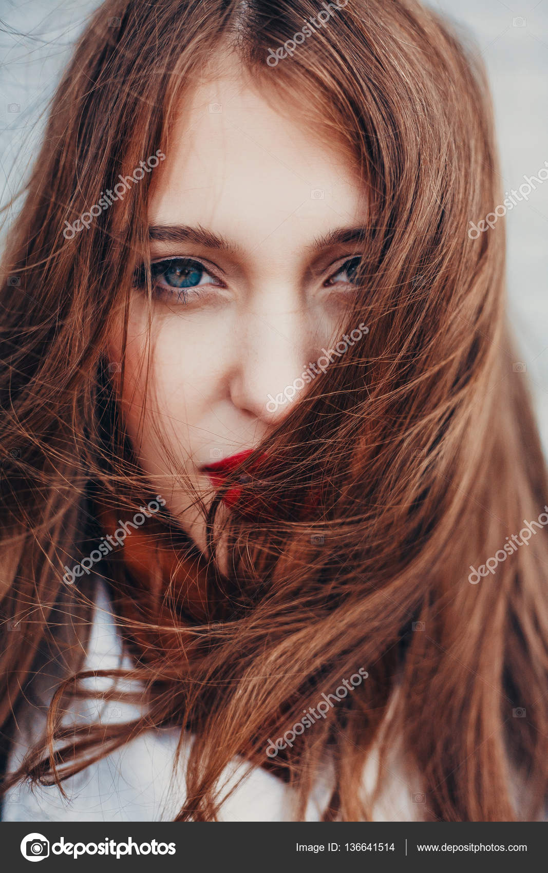 Bad hair day. Beautiful girl with long tangled.– stock image