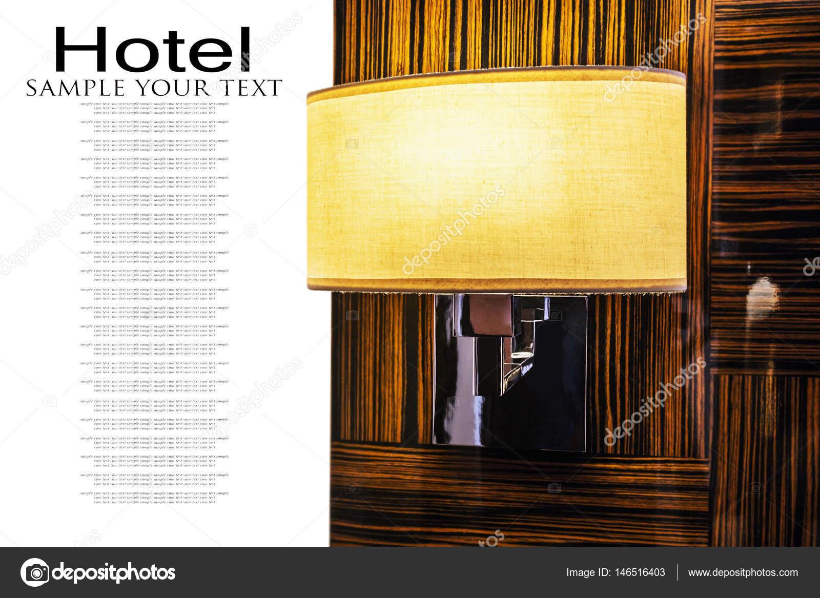 Lampada applique con paralume tessile u foto stock doroshin